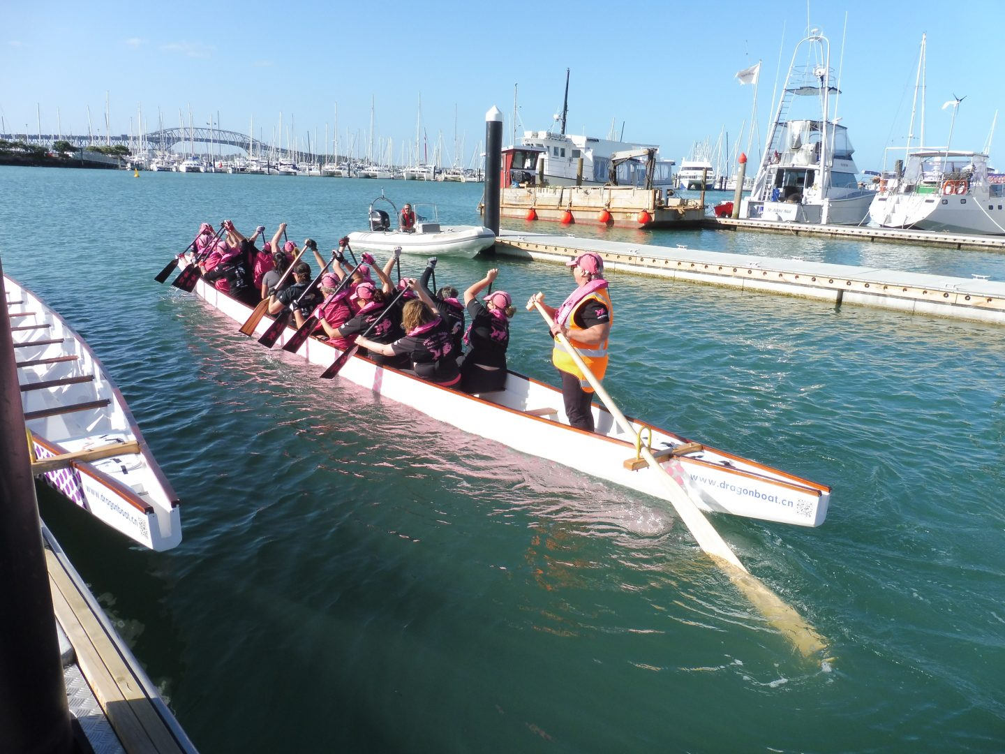 Breast cancer survivor dragon boat team Auckland