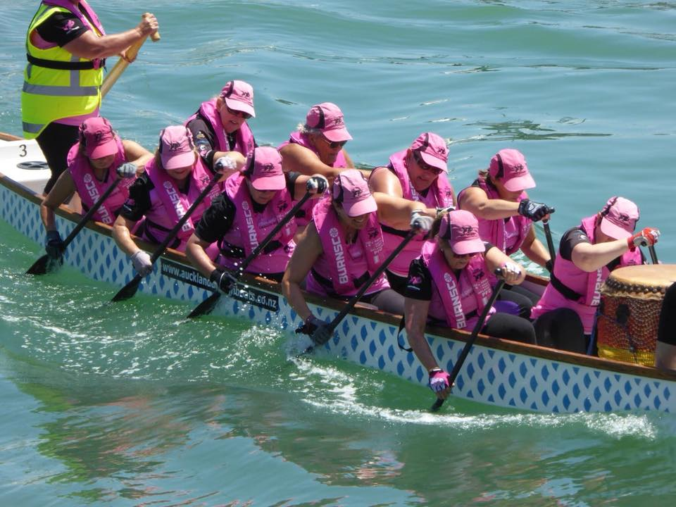 Pink Dragons Auckland dragon boat team